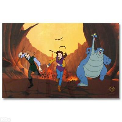 """Warner Brothers  """"The Quest for Camelot""""  Sericel Hand Painted COA"""