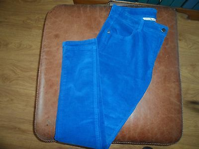 TU bright blue women's cords. Size 12 NEW