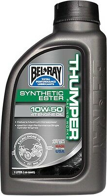 Bel-Ray 1 Liter Works Thumper Racing Full-Synthetic Ester 4T Engine Oil 10W-50