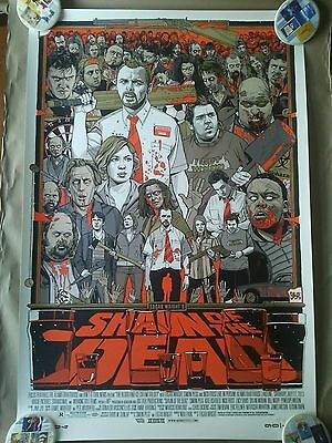 Rare Mondo Tyler Stout - Shaun of the Dead Print - Signed & Numbered