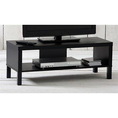 Black Entertainment TV Unit Stand Table Cabinet Desk Living Lounge BNE Stock