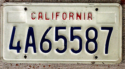 "Embossed ""California"" Version License Plate"
