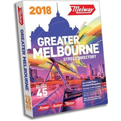 Melway 2018 Melbourne Street Directory Edition 45 - MELWAYS FREE POSTAGE 2017