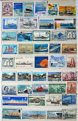 Great Collection Of Boat & Ship Thematic Stamps.