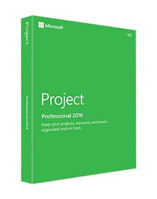 Microsoft Project Professional 2016 for 1PC Product License