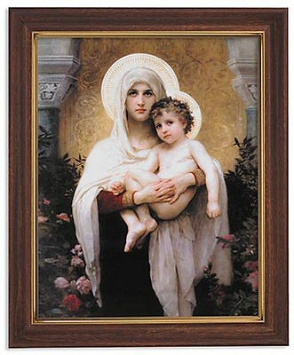 Madonna And Child Roses Print By Bouguereau Virgin Mary Jesus Christ