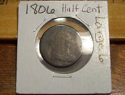 1806 Half Cent Drapped Bust