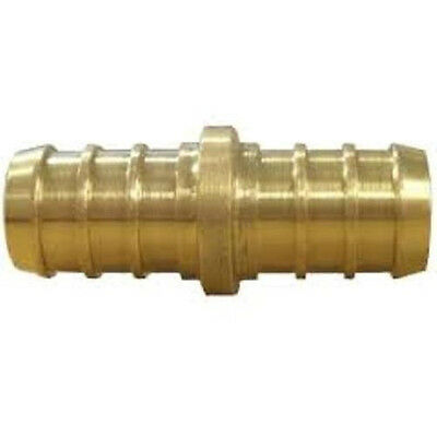 """(25) 1/2"""" PEX COUPLINGS - BRASS CRIMP FITTING - LEAD FREE (Pack of 25)"""