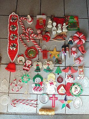 handmade and store Christmas ornaments / 1970s