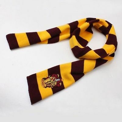 Harry Potter Gryffindor House Cosplay Knit Wool Scarf Wrap Fashion Costume