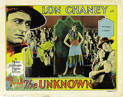The Unknown 11 X 14 Lobby Card LC Lon Chaney Joan Crawford