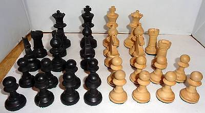 Full Set Handmade Wooden Chess Pieces/Set Collectable/Game/Vintage
