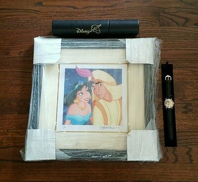Disney Aladdin Featured Watch Of November W/ Framed Picture 1/25 Limited Edition