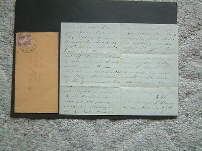 Civil War Letter Camp 8th New York Calvary- Red 3 Cent Washington Stamp 1864