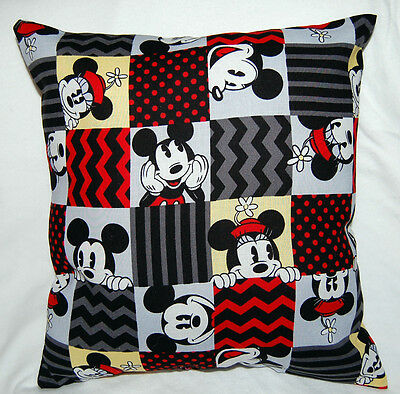 New Print Handmade Disney  Minnie & Mickey Mouse Travel/ Toddler Pillow