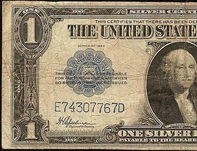 Large 1923 $1 Dollar Bill Silver Certificate Big Us Currency Note Paper Money