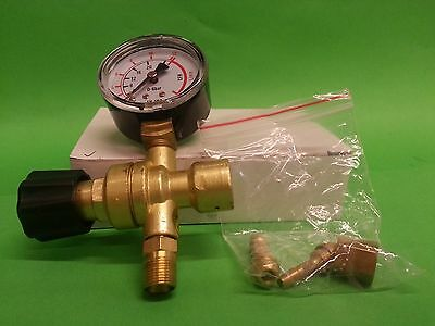 Mini Argon CO2 Gas Regulator Single Guage Fit For Disposable Cylinder Bottle