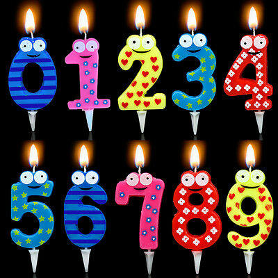 Hot Fashion Number Candle Cake Number Ages Party Kids Birthday Decorations