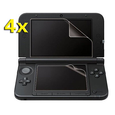 4x Clear Top Bottom Screen Protector LCD Film Guard Cover for Nintendo 3DS LL XL