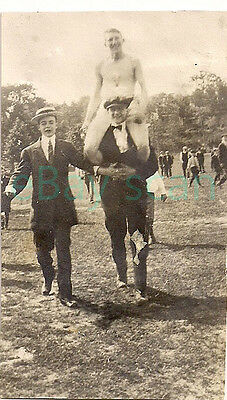 Vintage Photo #624 Affectionate Young Men Gay Interest Bare Chested Goofing Off