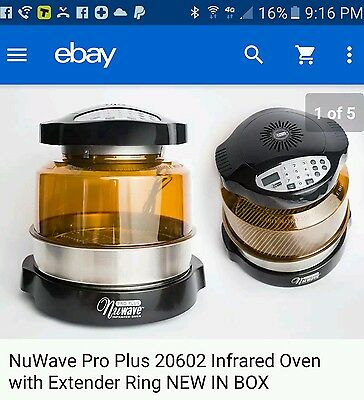 New In Box Nuwave Pro Plus Model 20601 Infrared Oven N298 !!  N230