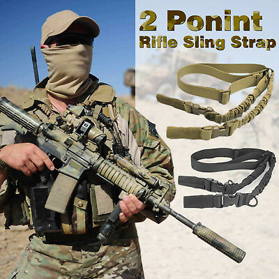 Adjustable Tactical Sling 2 Dual Point Rifle Sling Quick Release Detach Hunting