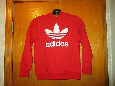 Authentic Youth Adidas Red Pull Over Hoodie Size Small. Great Buy!!