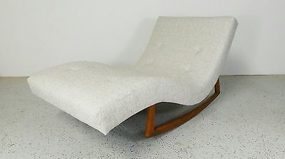 mid century modern Adrian Pearsall reupholstered wave chaise rocker