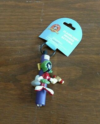 MARVIN THE MARTIAN 1997 (Flashlight Hugger) Keychain Looney Tunes Warner Bros