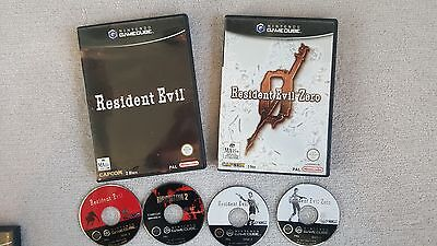 Resident Evil 1, 2 and Zero (Gamecube - PAL)