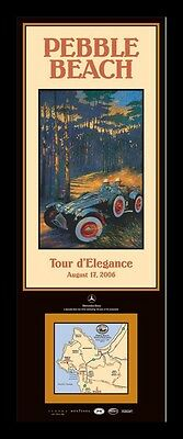 NEW Pebble Beach Concours 2006 Tour Poster ALLARD J2X Barry Rowe