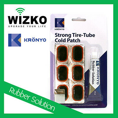 Tyre Rubber Tube Repair Puncture Kit Adhesive Patches Glue Set Cold Patch