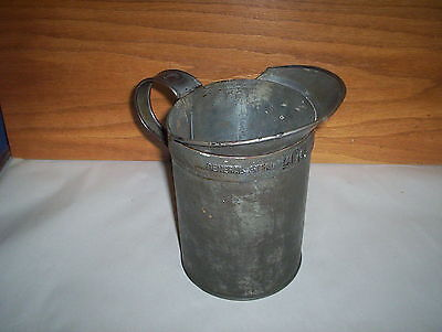 Antique General Steel Wares Limited 1/2 Gallon Tin Measuring Jug or Pitcher GSW