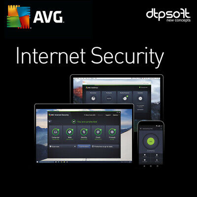 Avg Internet Security 2018 - Unlimited Devices - 2 Year's - Pc,mac,and / Au