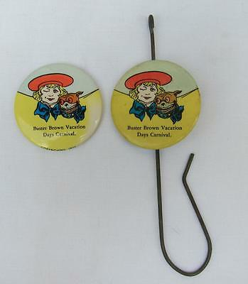 Vintage Buster Brown Shoes Celluloid Paper Hook & 2 Pocket Mirrors l
