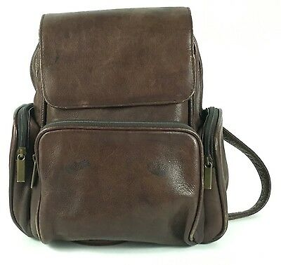 WILSON'S LEATHER Carry All Backpack Knapsack Brown