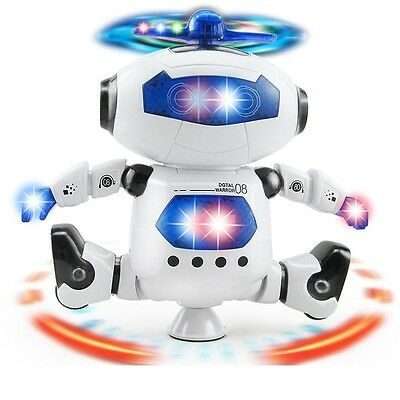 Walking Dancing Electronic Smart Space Robot Astronaut Light Music Toy Kids Gift