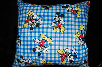 New Handmade Disney Mickey Mouse Travel/ Toddler/ Bed / Cuddle  Pillow