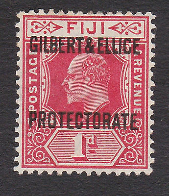 Gilbert & Ellice 1911  1d red  S.G.2 mint hinged