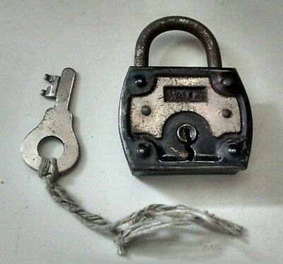 Vintage Wally Padlock with Key