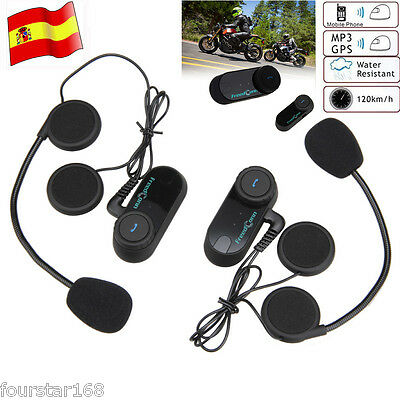 2x BT 800M Motorcycle Helmet Interphone Bluetooth Radio Intercomunicador Headset
