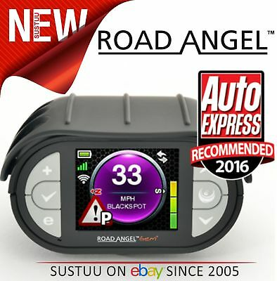 NEW Road Angel Gem + Plus Speed Limit Traffic Camera Detector + Laser Alert