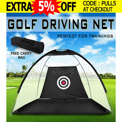 Portable Golf Training Net Practice Driving Tent Chipping Soccer Cricket Target