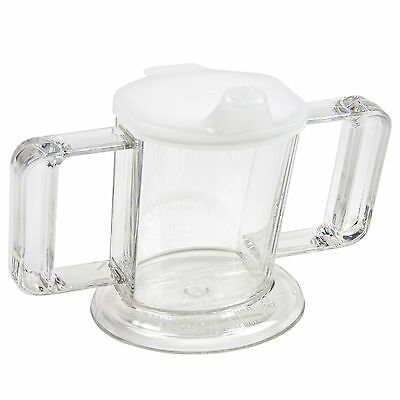 2 Handed Handy Cup - Clear Adult Drinking Cup