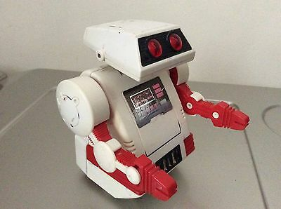 1984 Vintage Tomy Robot Flipbot Clipbot Walks To Wall And Somersaults