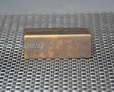 Chinese Old Pure copper hand-made rectangular Rouge box