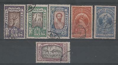 Ethiopia , Various Fine Used (6) 1919 Issues.