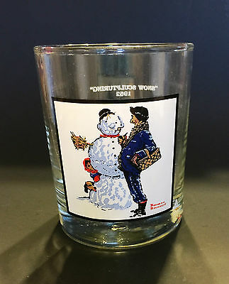 Snow Sculpting by Norman Rockwell, Glass made for Arby's