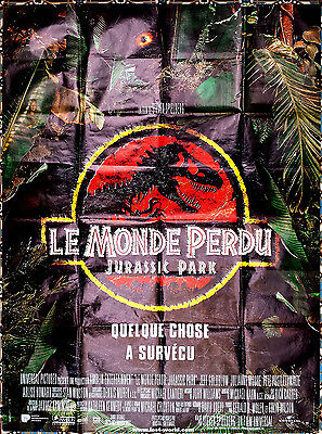 1997 JURASSIC PARK THE LOST WORLD Spielberg SCi-Fi 47x63 French film poster
