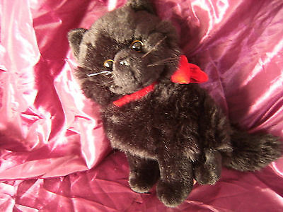 """9"""" Shadow the Cat Soft Toy From Russ Berrie 9"""" sitting"""
